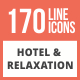 Free Download 170 Hotel & Relaxation Line Multicolor B/G Icons Nulled