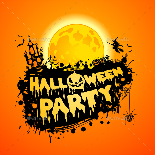 Happy Halloween Party Poster - Halloween Seasons/Holidays