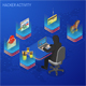 Hacker Activity Isometric Concept - GraphicRiver Item for Sale