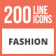 Free Download 200 Fashion Line Inverted Icons Nulled