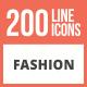 200 Fashion Line Multicolor B/G Icons