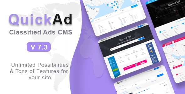 ­Classified Ads CMS - Quickad
