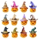 Witch Hat Decoration Halloween Jack O Lantern - GraphicRiver Item for Sale