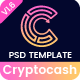 Cryptocash - ICO & Cryptocurrency ICO Landing Page PSD Template - ThemeForest Item for Sale