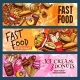 Vector Banners Set for Fast Food Restaurant - GraphicRiver Item for Sale