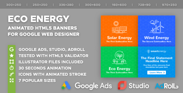Smart Energy - Eco Energy HTML5 Banner Ad Templates (GWD) - CodeCanyon Item for Sale