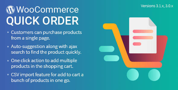 Quick Order Plugin for WooCommerce            Nulled