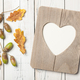 Thanksgiving card with oak leaves, acorns and heart shaped frame - PhotoDune Item for Sale
