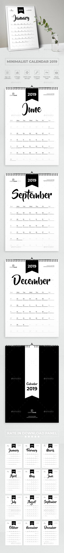 Minimalist Calendar 2019 - Calendars Stationery