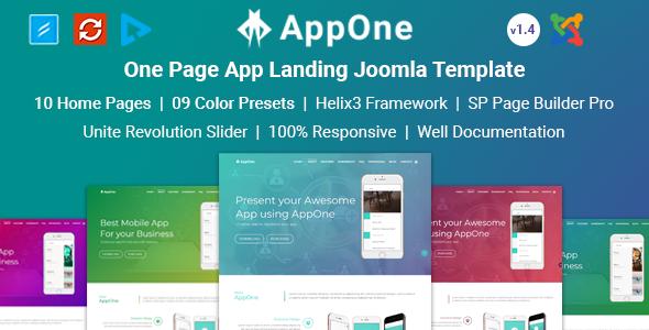 AppOne - App Landing Joomla Template