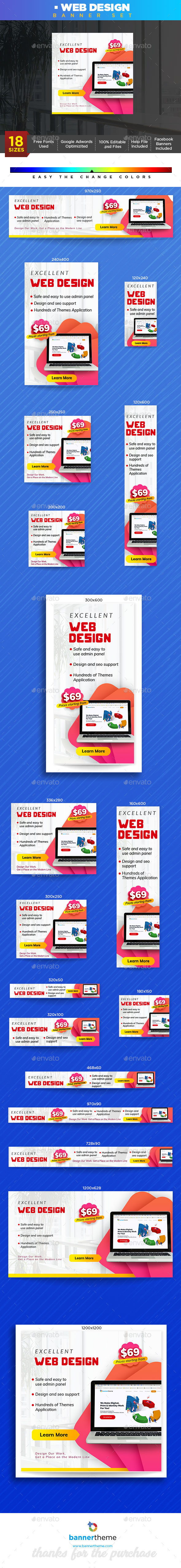 Web Design Banner - Banners & Ads Web Elements
