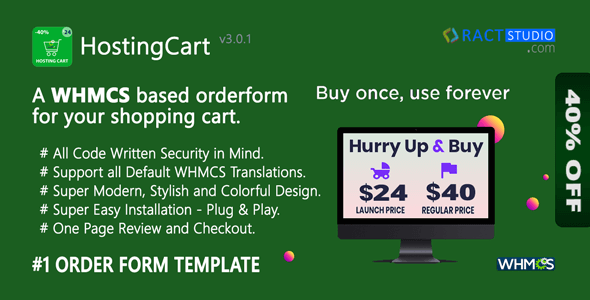 HostingCart - Advanced WHMCS Order Form Template - One Page Review & Checkout - CodeCanyon Item for Sale