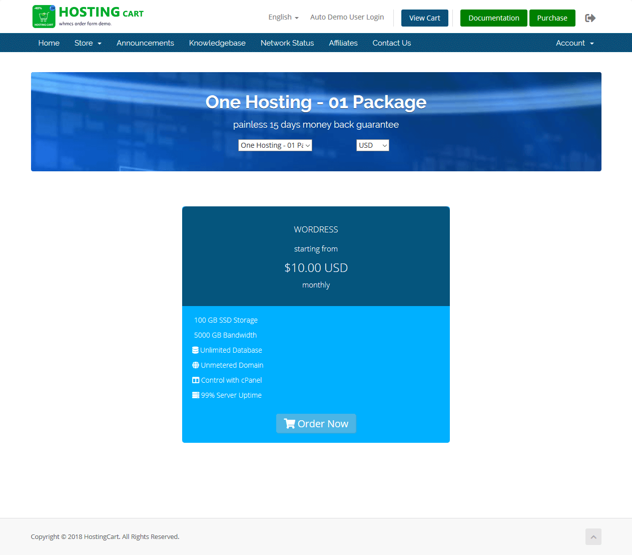 HostingCart - Advanced WHMCS Order Form Template - One Page Review ...