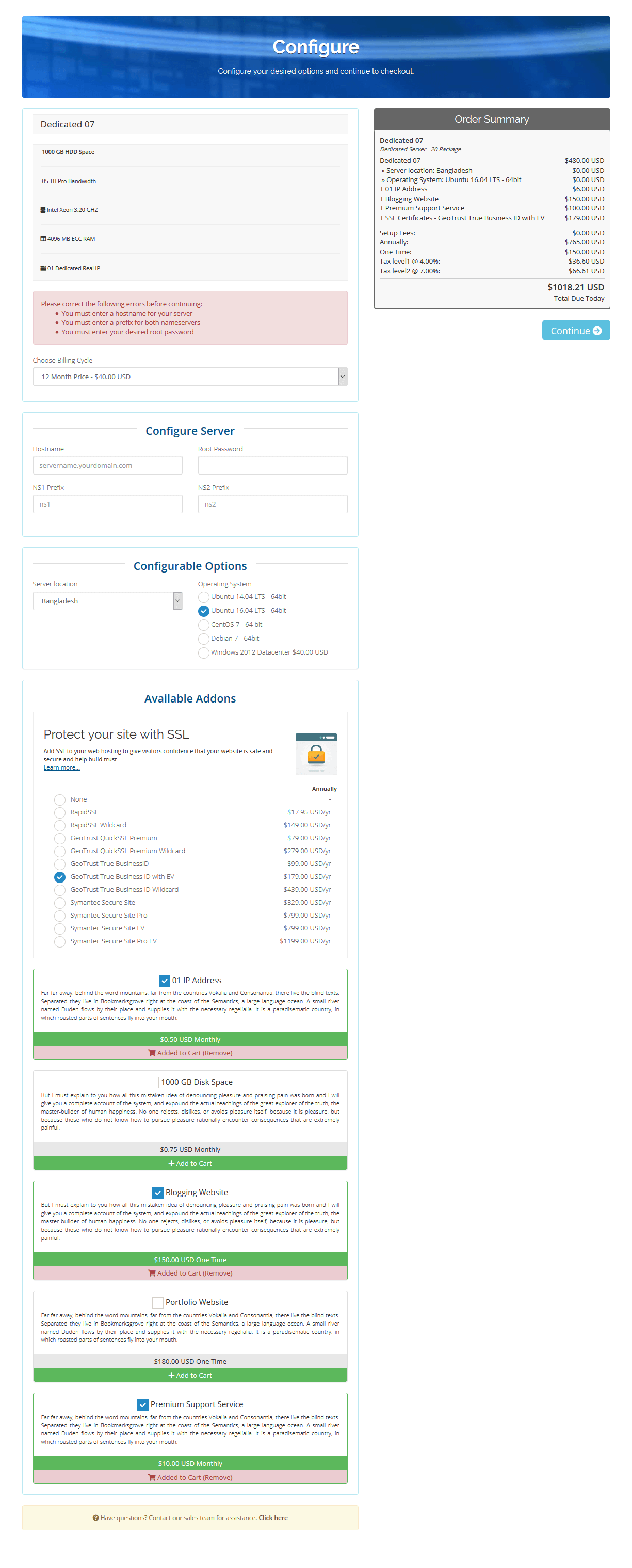 Order Confirmation Page Template