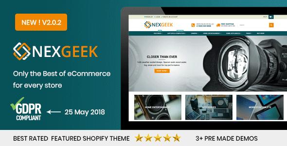 NexGeek - Multipurpose Responsive Shopify Theme(Sections Ready) - Shopify eCommerce