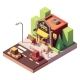 Vector Isometric Hardware Shop - GraphicRiver Item for Sale