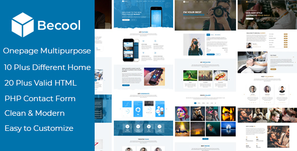Becool - Onepage Multipurpose Template