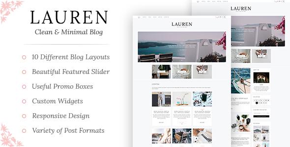 Lauren - Clean & Minimal WordPress Blog Theme - Blog / Magazine WordPress