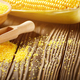 Bowl of corn grits and corncob on kitchen table - PhotoDune Item for Sale