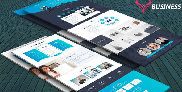 Business - BusinessCorporate Landing Page by codestarthemes