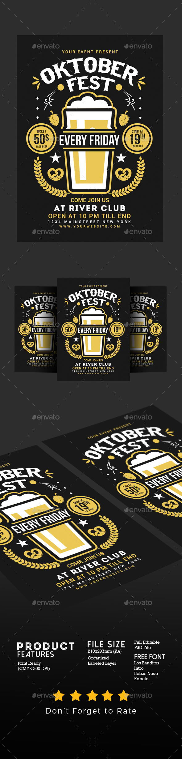 Oktober Fest Flyer - Events Flyers