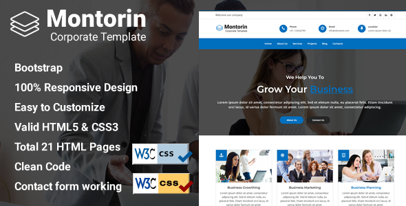 Professional corporate html website templates from themeforest cheaphphosting Gallery