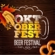 Oktoberfest Banner Illustration with Fresh Beer - GraphicRiver Item for Sale