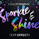 Free Download Sparkle & Shine Holographic Text Effects Nulled