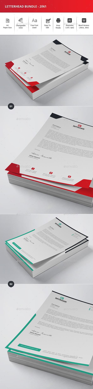 Letterhead bundle 2in1 by sawonahmed graphicriver letterhead bundle 2in1 stationery print templates spiritdancerdesigns Choice Image