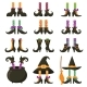 Scary Witch Legs. Halloween Witches Leg Stockings