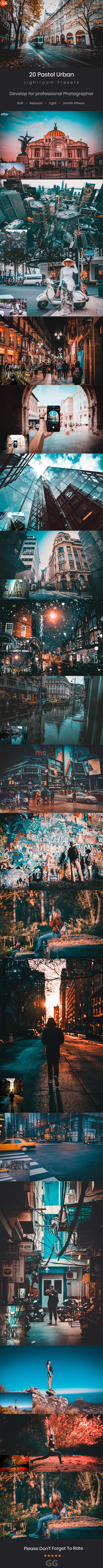 20 Pastel Urban Lightroom Preset - Cinematic Lightroom Presets