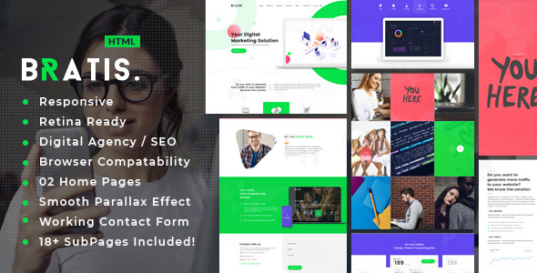 Bratis - SEO /Digital Agency HTML5 Template