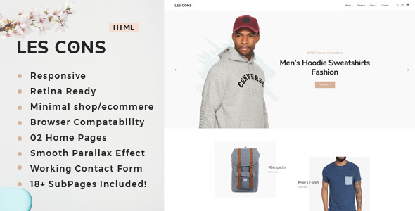 Lescons : Minimal eCommerce Template - Shopping Retail