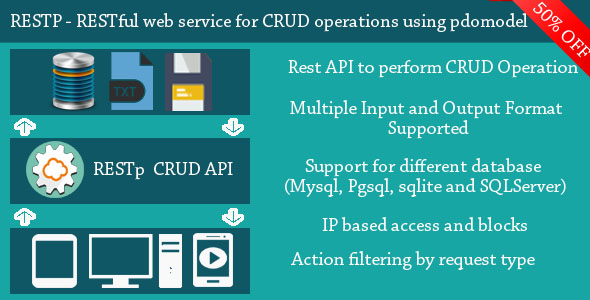 RESTp - RESTful web service for performing CRUD operations using PDOModel            Nulled