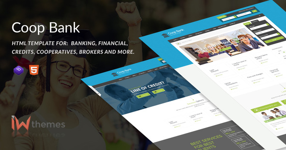 CoopBank - Banking, Financial, Credits Template - Business Corporate