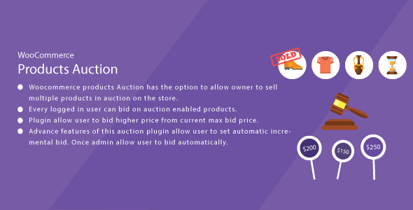 WordPress WooCommerce Products Auction Plugin            Nulled