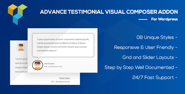 Advance Testimonial Addon for WordPress (formerly Visual Composer)            Nulled
