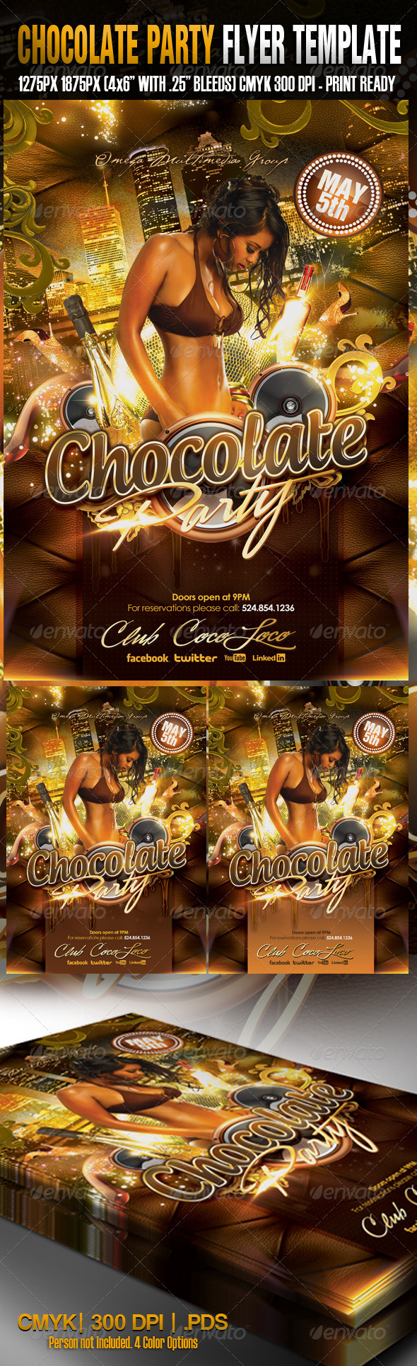 Chocolate Party Template - Clubs & Parties Events