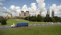 A Blue Shipping Container Out From the Busy Port of Mobile Alabama - PhotoDune Item for Sale