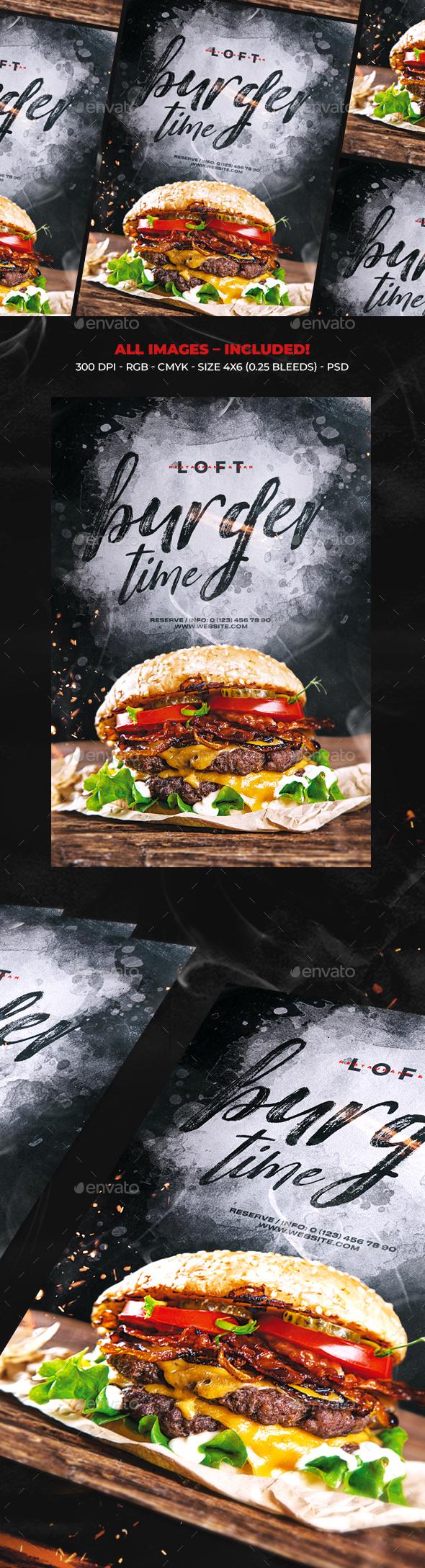 Burger Time - Restaurant Flyers