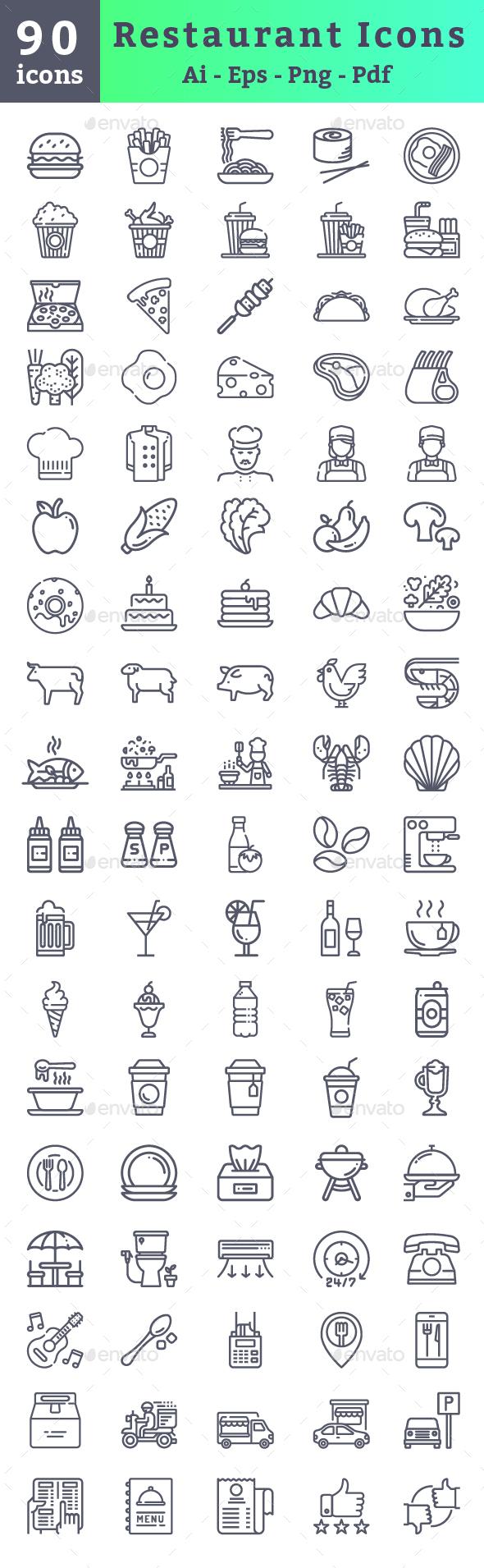 Restaurant Icons - Icons