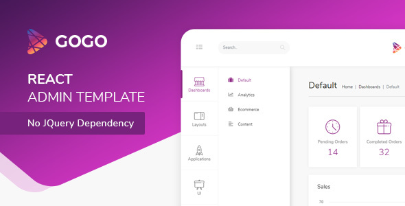 Gogo - React Bootstrap 4 Admin Dashboard Free Download | Nulled