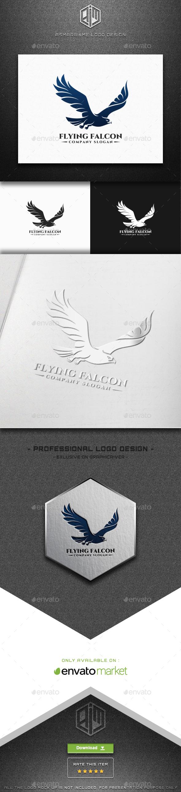 Flying Falcon Logo - Animals Logo Templates