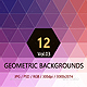 12 Geometric Backgrounds Vol.3  - GraphicRiver Item for Sale