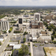 Aerial View Over The Streets Architecture and Buildings of Downtown Macon GA - PhotoDune Item for Sale
