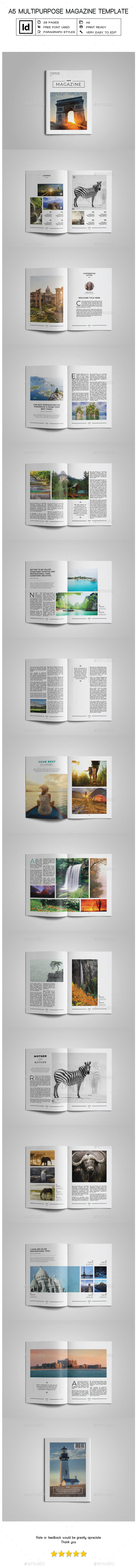 A5 Multipurpose Magazine Template IV - Magazines Print Templates