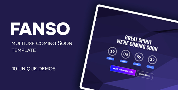 FANSO-Multipurpose Coming Soon Free Download | Nulled