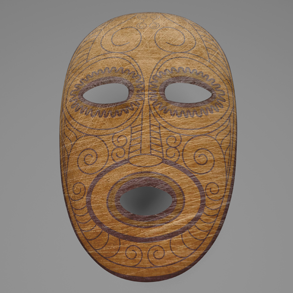 ancient mask - 3DOcean Item for Sale