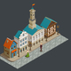 Medieval Architecture Isometric Composition