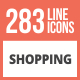 284 Shopping Line Multicolor B/G Icons - GraphicRiver Item for Sale